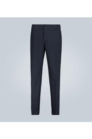 Prada Damen Hosen & Jeans - Stretch-Baumwollhose mit Logo