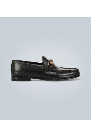 Gucci Leder-Loafers mit Horsebit-Detail