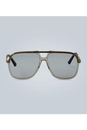 Gucci Rechteckige Sonnenbrille aus Metall