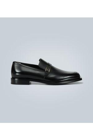 Fendi Leder-Loafers mit Logo