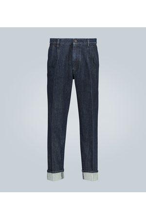 Prada Jeans mit weitem Bein und Webkante