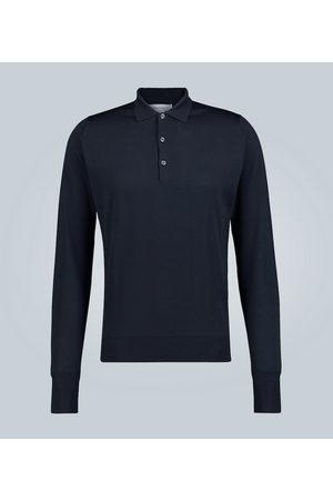 JOHN SMEDLEY Langarm-Poloshirt aus Wolle