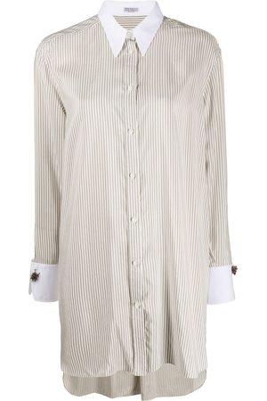 Brunello Cucinelli Damen Blusen - Hemd mit langem Schnitt