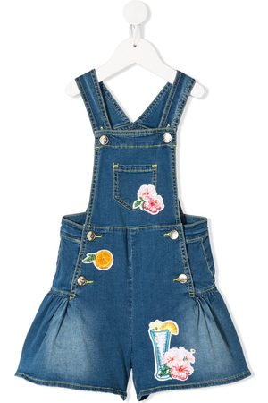 MONNALISA TEEN Jeans-Overall mit Patches
