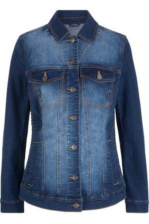 Bonprix Jeansjacke mit seitlichem Smokeinsatz
