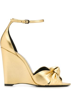 Saint Laurent Wedge-Sandalen mit Knoten, 95mm