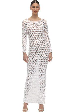 In the Mood for Love Sequin Crochet Long Dress