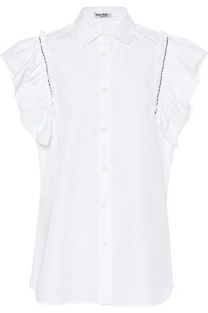 Miu Miu Bluse aus Baumwollpopeline