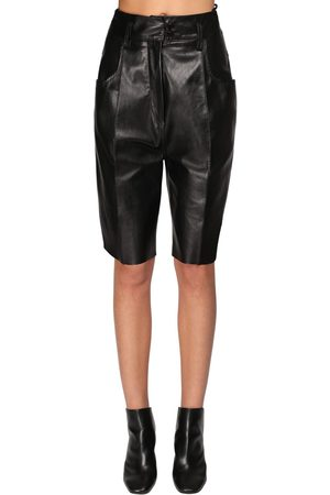 PETAR PETROV Leather Slim Fit Shorts