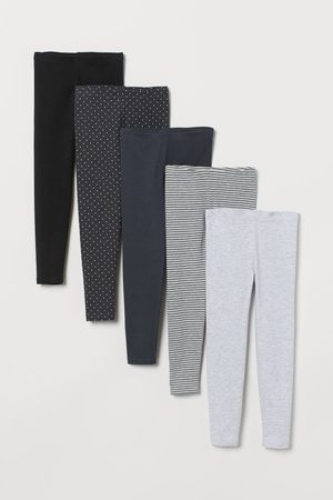 H&M 5er-Pack Jerseyleggings