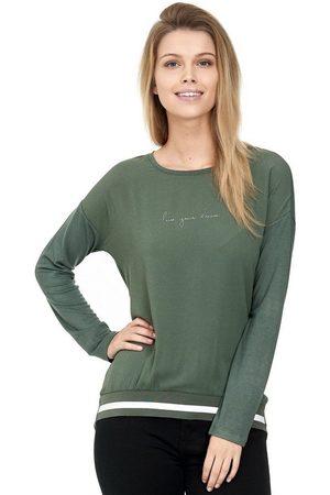 Decay Damen Longsleeves - Langarmshirt »Blusenshirt« mit Gestreiften Rippbündchen an Saum