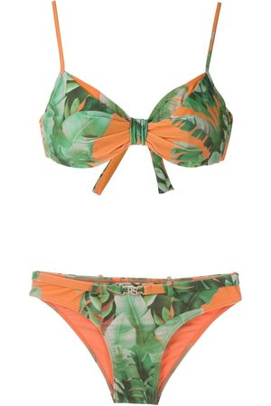AMIR SLAMA Mata Atlântica' Bikini mit Print