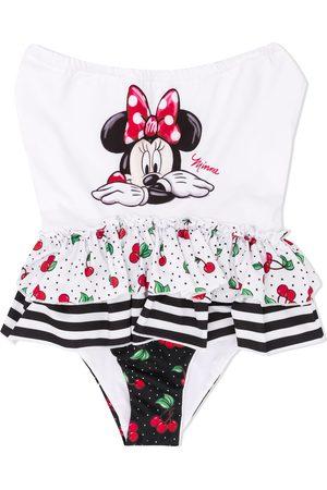 MONNALISA Mädchen Badeanzüge - Badeanzug mit Minnie Maus-Print