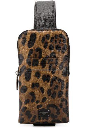 Dolce & Gabbana Herren Handy - Smartphone-Tasche mit Leo-Print