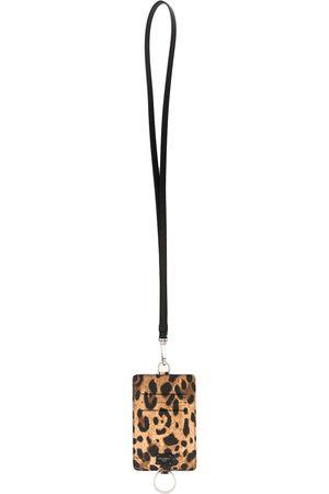 Dolce & Gabbana Kartenetui mit Leoparden-Print