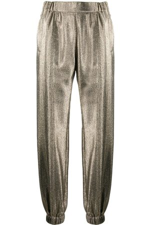 Saint Laurent Hose im Metallic-Look