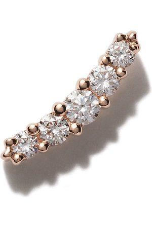 Stone 18kt Rotgoldohrring mit Diamanten