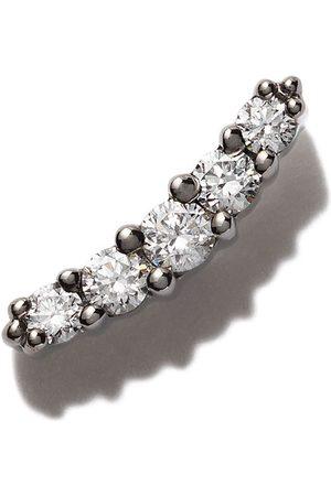 Stone 18kt Schwarzgoldohrring mit Diamanten