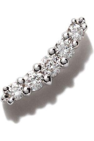 Stone 18kt Weißgoldohrring mit Diamanten