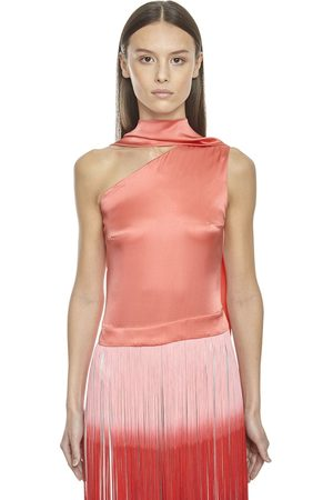 Taller Marmo Silk Top W/ Two Tone Fringes