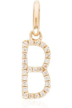 "ROSA DE LA CRUZ 18kt ""B""-Gelbgoldanhänger mit Diamanten"
