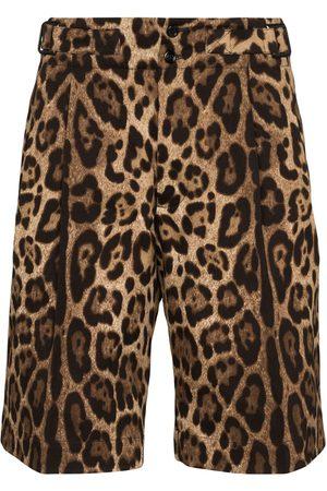 Dolce & Gabbana Bermudas mit Leoparden-Print