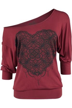 Full Volume Damen Longsleeves - So Fast And Loose Langarmshirt bordeaux