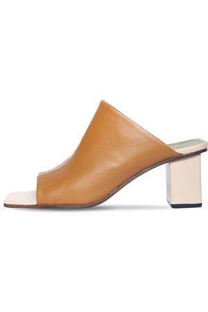Gray Matters 60mm Coda Leather Mule Sandals