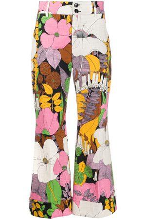 La DoubleJ Hose mit Blumen-Print