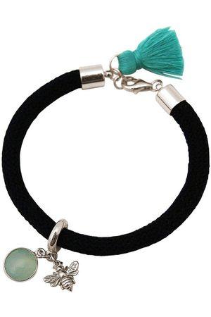 Gemshine Charm-Armband »BEE Biene Aqua Chalcedon«, Made in Germany