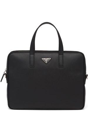 Prada Herren Laptop- & Aktentaschen - Aktentasche aus Saffiano-Leder