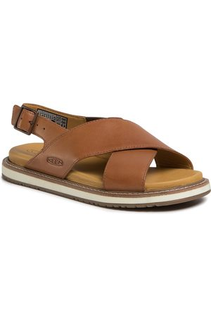 Keen Damen Sandalen - Lana Cross Strap Sandal 1022585 Tortoise Shell/Silver Brich