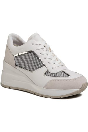 Geox Damen Halbschuhe - D Zosma A D028LA 0AS85 C1303 Lt Grey/White