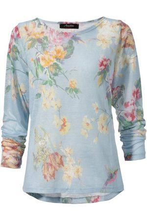 Aniston Langarmshirt mit großflächigem Blumendruck und Vögeln