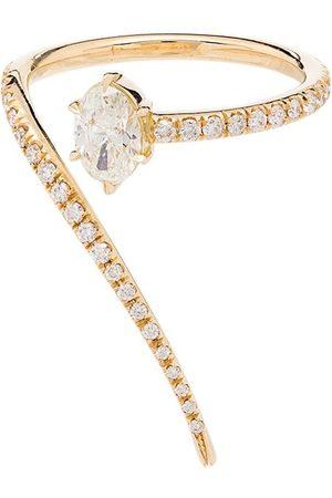 Jade Trau 18kt 'Luna' Goldring mit Diamanten