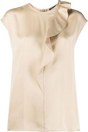 Armani Damen Blusen - Seidenbluse mit Rüschenkragen