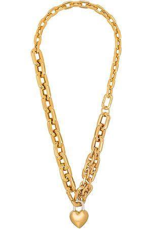 AMBUSH Vergoldete Halskette mit Herzschloss