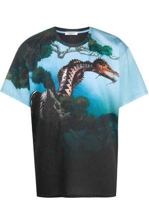 VALENTINO T-Shirt mit Drachen-Print