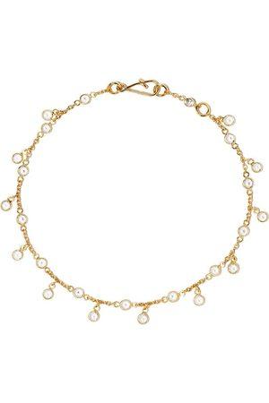 ANNOUSHKA 18kt Gelbgoldarmband mit weißen Saphiren