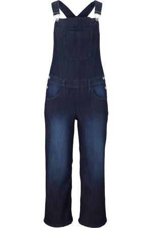 bonprix Komfort-Stretch-Jeans-Latzhose, Wide