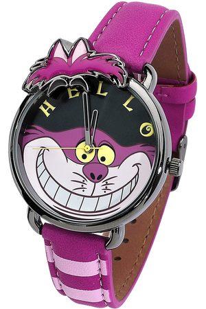 Alice im Wunderland Damen Uhren - Grinsekatze Armbanduhren pink