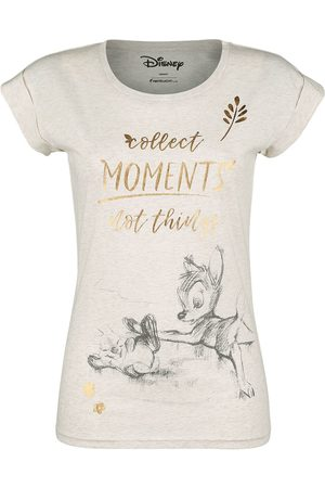 Disney Damen T-Shirts, Polos & Longsleeves - Collect Moments Not Things T-Shirt creme meliert