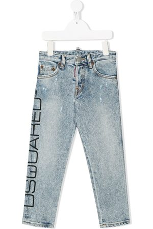 Dsquared2 Jungen Cropped - Jeans mit Logo-Print