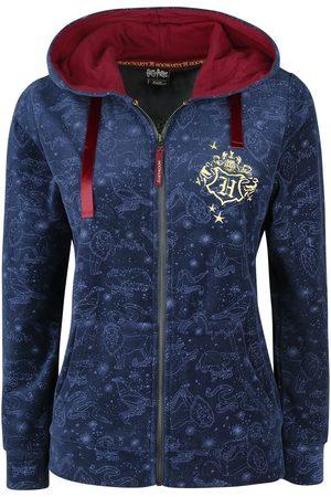 Harry Potter Damen Sweatjacken - Hogwart's Crest Kapuzenjacke dunkelblau