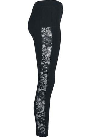 Urban classics Ladies Lace Striped Leggings Leggings