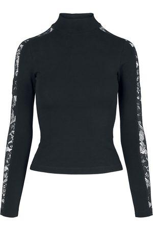 Urban classics Damen Longsleeves - Ladies Lace Striped Longsleeve Langarmshirt