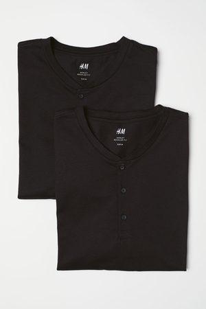 H & M 2er-Pack Henleyshirts