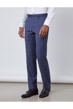 Hawes & Curtis Herren Anzughose   EU 48 Slim Fit Overcheck 100S Wolle