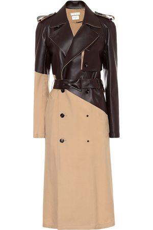 Bottega Veneta Trenchcoat aus Wolle und Leder