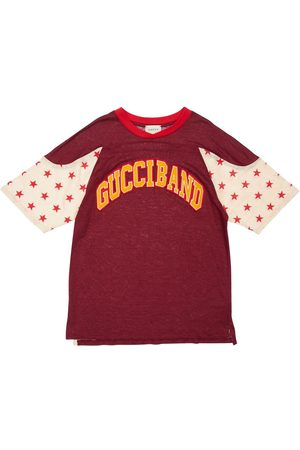 Gucci T-shirt Aus Leinen Mit Patch